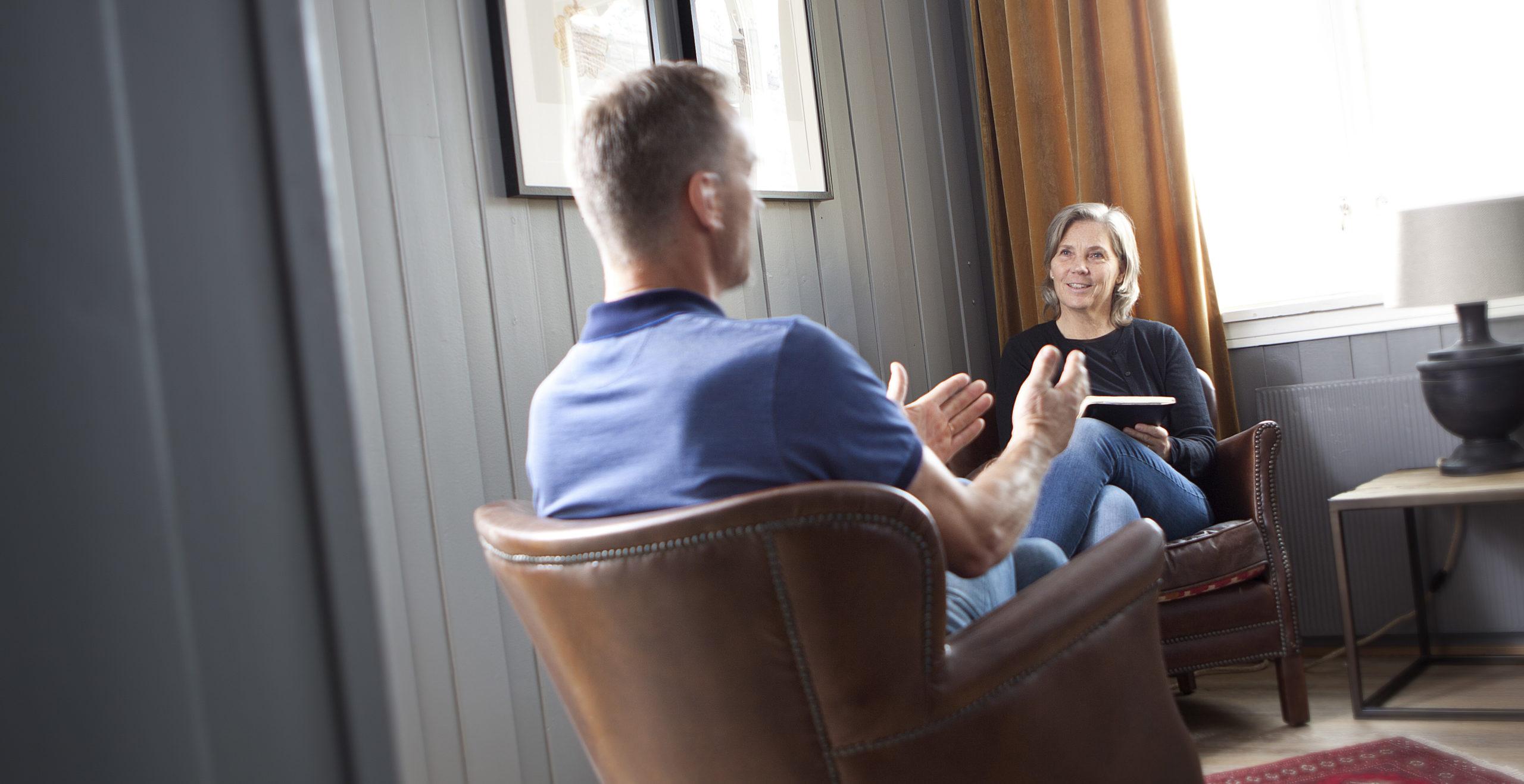 Pasient og Kia i metakogntiv terapi - Snøhetta Terapi
